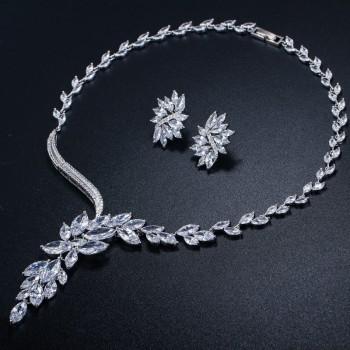 Официален комплект с кристали цирконий