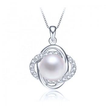 Колие Уника с бели естествени перли