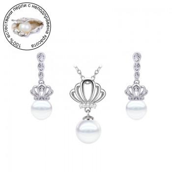 "Комплект ""Victoria princess"" с естествени перли"