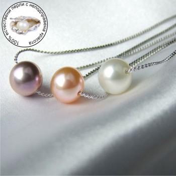 Модно колие с естественa перлa