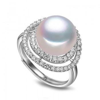 Пръстен винтидж с естествена перла